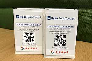 Google My Business Bewertungskärtchen